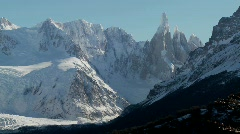 The remarkable mountain range of Fitzroy in Patagonia, - stock footage