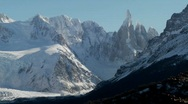 Stock Video Footage of The remarkable mountain range of Fitzroy in Patagonia,