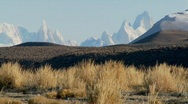 Stock Video Footage of The remarkable mountain range of Fitzroy in Patagonia, Argentina.
