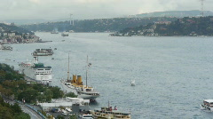 Great istanbul scene over the bosphorus brigde Stock Footage