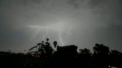 Lightning strikes during a thunderstorm. Stock Footage