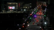 Stock Video Footage of Time lapse of traffic on Houston streets at night.