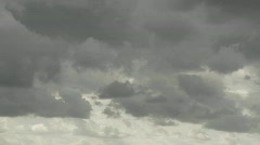 A time lapse shot of storm clouds forming. Stock Footage