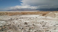 Stock Video Footage of Time lapse of clouds over the Owens Valley dry lake bed.