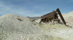 An abandoned sulfur mine in Death Valley. Stock Footage