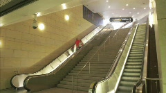 Time lapse of people moving up and down escalators. Stock Footage