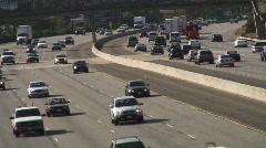 Freeway Medium Traffic  Stock Footage