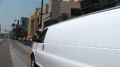 Tourists visit the Hollywood Walk of Fame. Stock Footage