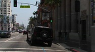 A limo drives through Hollywood. Stock Footage