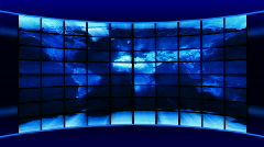 World Map of media screens. - stock footage