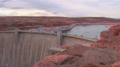 Red rocks in the Glen Canyon Dam in Arizona. Stock Footage