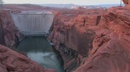 Stock Video Footage of Red rocks in the Glen Canyon Dam in Arizona.