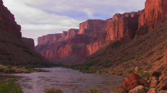 The Colorado River flows through a beautiful stretch of the Stock Footage