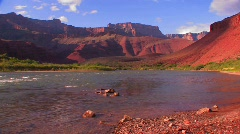 The Colorado River flows through a beautiful stretch of the - stock footage