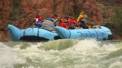 A rafting expedition heads down the Colorado River in the Stock Footage