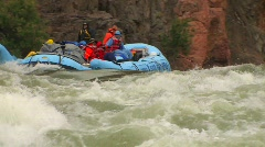 A rafting expedition heads down the Colorado River in the - stock footage