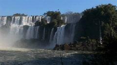 A slow pan across beautiful Iguacu Falls. Stock Footage