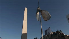 Buenos Aires, Argentina  capitol nuevo de julio buildings Stock Footage