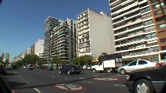 Buenas Aires, Argentina  traffic from vehicle with pov from taxi Stock Footage