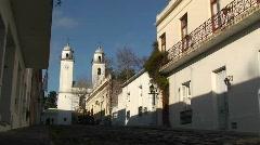 Historic Colonia, Uruguay cityscape Stock Footage