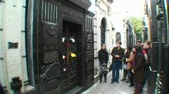 Buenos Aires, Eva Peron, grave Stock Footage