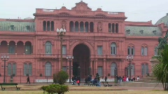 "La Casa Rosada (Spanish for The Pink House"") Stock Footage"