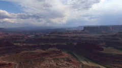A valley of mesas at day in Canyonlands National Park in Utah. - stock footage