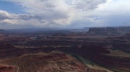 A valley of mesas at day in Canyonlands National Park in Utah. Stock Footage