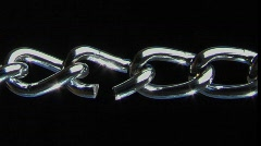 A conceptual shot of the weakest link in a chain. - stock footage