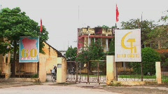 A local communist party building in Vietnam. Stock Footage