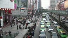 Time Lapse shot of modern traffic in China. Stock Footage