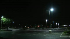An empty parking lot at night. - stock footage