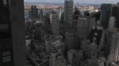 Time lapse of New York City from above. Stock Footage