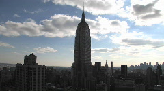 Time lapse of the Empire State building. Stock Footage