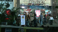 The busy front entryway of the Central Mall. Stock Footage