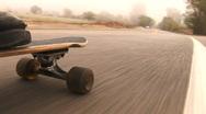 Stock Video Footage of Skateboard Ride