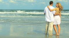 Stock Video Footage of Romance on the Beach