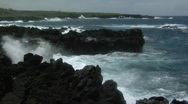 A large Pacific storm batters Hawaii with large waves. Stock Footage