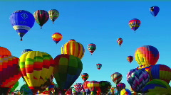 Colorful balloons rise above the Albuquerque Balloon Festival. Stock Footage