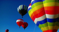 Stock Video Footage of Colorful balloons launch at the Albuquerque Balloon Festival.