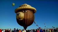 A Smokey The Bear balloon at the Albuquerque Balloon Festival. Stock Footage