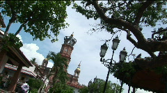 Several steeples adorn a church. Stock Footage
