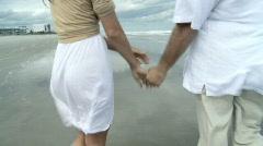 Romance on the Beach - stock footage