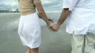 Romance on the Beach Stock Footage