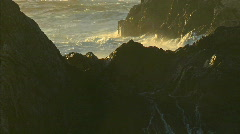 Surf, powered by a winter storm, rolls into the Big Sur Stock Footage