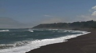 Stock Video Footage of Surf on the beach at Buchepureo, a tranquil village that is