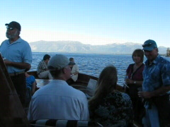 Party on Boat at Lake Tahoe Stock Footage