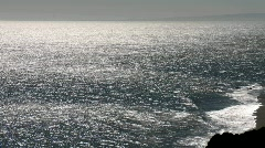 Horizontal pan over the ocean and coastline near Curanipe, Chile. Stock Footage