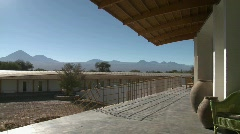 A view of Lincancabur and the Andes from the deck of the Stock Footage