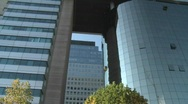 Pan across a modern hi-rise in Santiago, Chile. Stock Footage